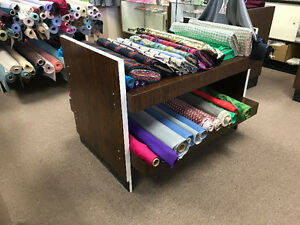 Fabric store display and tables FREE