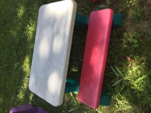 Adjustable plastic picnic table