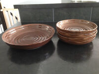 1 Serving Platter and 4 Matching dishes