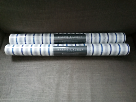 2x Ralph Lauren Home Saville Stripe LWP60760 Washable Wallpaper New