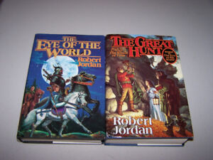 ROBERT JORDAN - EYE OF THE WORLD & THE GREAT HUNT 2- hc books