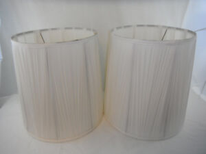 Vintage White Fabric Lamp Shades for Table Lamps
