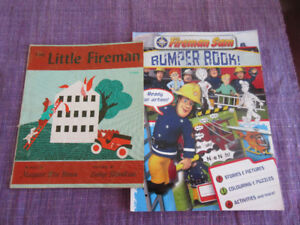 The Little Fireman (Vintage) & Fireman Sam Activity Book
