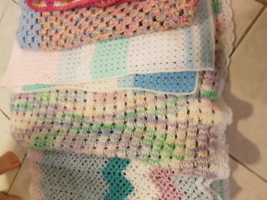 6 knitted baby blankets
