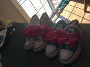 2 pairs of JoJo sparkly sneakers size 1 & 1.5. Exc. Con$ 20