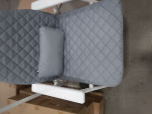 Brand new fold-able patio/indoor chairs with cushion, still in p