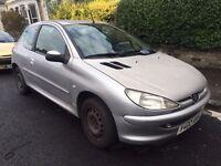 Peugeot 206 1.1 2001 8 months Mot Good runner