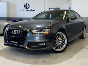 2014 AUDI A4 S-LINE|6-SPEED|NAV|ACCIDENT-FREE|PARK ASSIST|