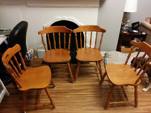Solid Wood Dining Table and Chairs St. John's Newfoundland image 1