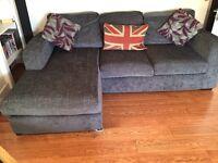 Corner Sofa (Blue) - only 12 months old!