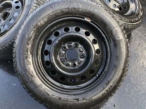 """15"""" Snowtires and Rims in Almost New Condition 5x114.3"""
