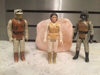 Three vintage Star Wars figures