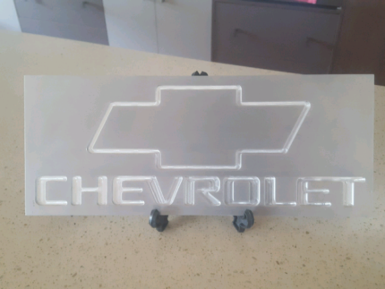 Chevrolet aluminium plaque Karalee Ipswich City Preview