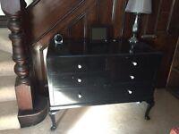 Large solid wood black dress sideboard Crosby