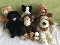 7 Bear Factory soft toys
