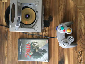Gamecube + zelda twilight princess+ zelda windwaker