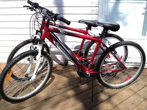 """Two 26"""" Supercycle Mountain Bikes - Hardly used - as new!"""