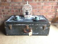 REAL VINTAGE TRUNK CHEST FREE DELIVERY COFFEE TABLE STORAGE BOX ANTIQUE