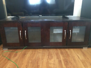 Large TV stand for sale - can hold a 50 inch TV