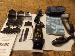 BARBER KIT AND PHILISHAVE SHAVER