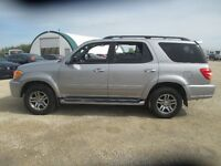 2003 Toyota Sequoia Limited Lthr Roof TV/DVD V8 4x4 Low Kms