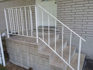 Steel railing for stairs