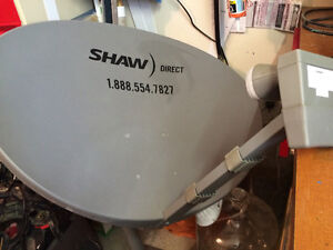 Shaw Cable Satelite Dish, 2 receivers, remotes, power supplies