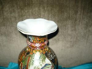 ANTIQUE STUNNING JAPANESE SATSUMA MORIAGE VASE WITH RUFFLED TOP Kitchener / Waterloo Kitchener Area image 2