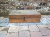 Old Antique Fitted Wooden Tool Box - CAN DELIVER