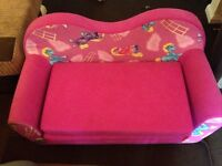 Girls/kids pink pony sofa and bed