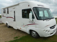 Rapido 9090 DF 4 Berth Luxury A Class ISLAND BED, GARAGE, Fiat 3.0l 160BHP RHD