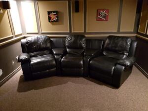 Black Reclining Couch