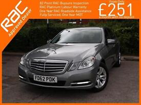 2012 Mercedes-Benz E Class E200 CDI Turbo Diesel SE Blue Efficiency S/S Start St