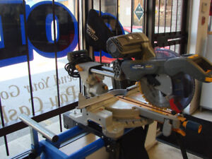 MASTERCRAFT SLIDING COMPOUND MITRE SAW WITH STAND