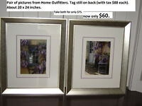 Nice framed pictures. Like new