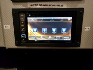Wanted alpine double din bluetooth car audio deck