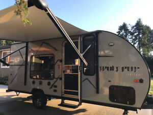 2018 forest river 16qf wolf pup travel trailer