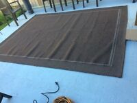 Brown Outdoor rug for deck, patio, RV or anywhere else.