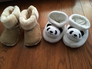 Cute Booties for baby (Size 3.5) LikeNew