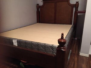 Matching queen size bed frame and dresser + box spring