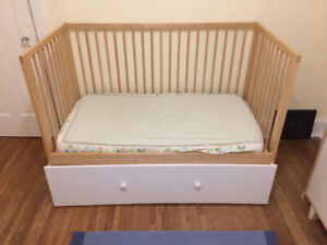 Ikea Gulliver Crib with Huge Customized Storage Drawer