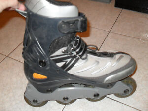 patins a roulettes alignees