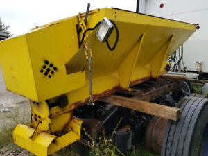 Western plow and Salter fits in 8 feet truck box