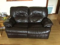 2 seater leather recliner for sale