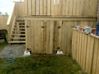 Working Dog Contracting Fences, decks junk removal etc