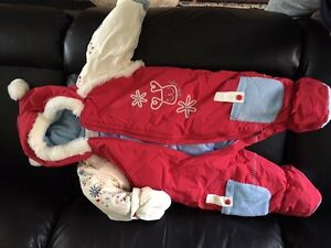 Girls 12 month snow suit