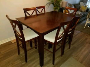 High top dining room table with chairs