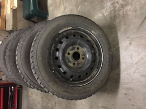 near new snow tires and rims for sale