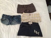 Hollister, Abercrombie shorts