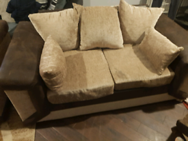 3 seater and 2 seater sofa with arm chair